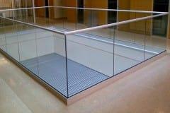 Aluminium-Profile-U-Channel-Glass-Railing-For