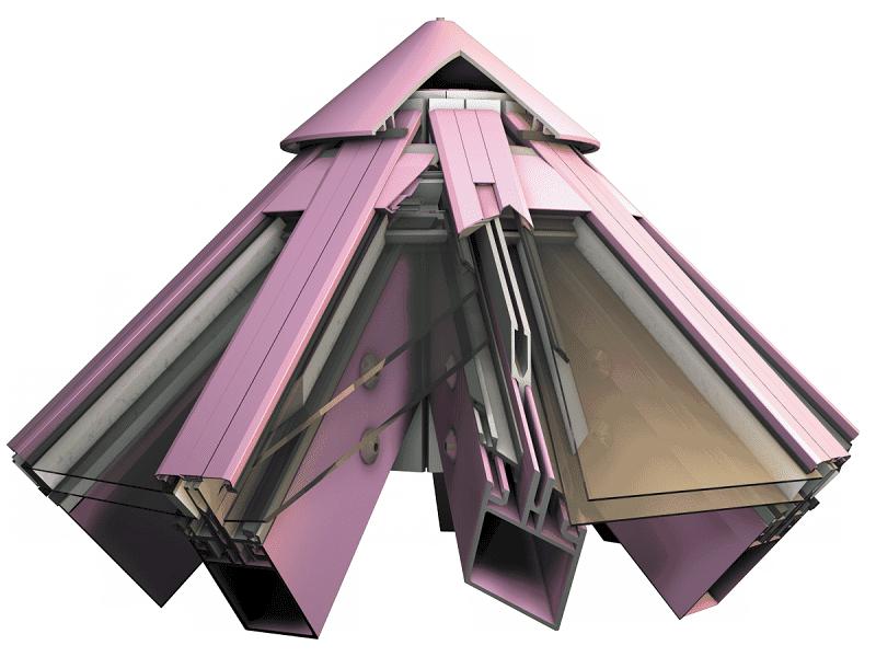 Фасадная стоечно-ригельная серия RF 50