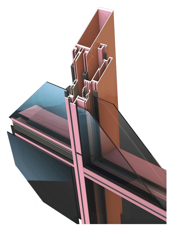 Фасадная стоечно-ригельная серия RF50SSG